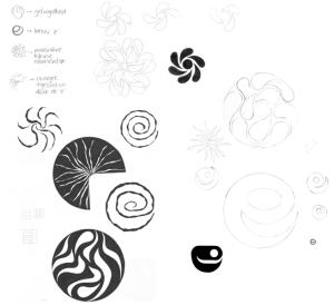 schetsen voor een logo